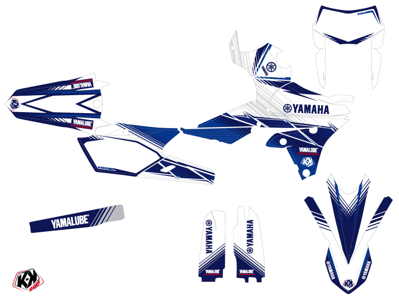 Kit Déco Moto Cross Stripe Yamaha 250 WRF Bleu Nuit