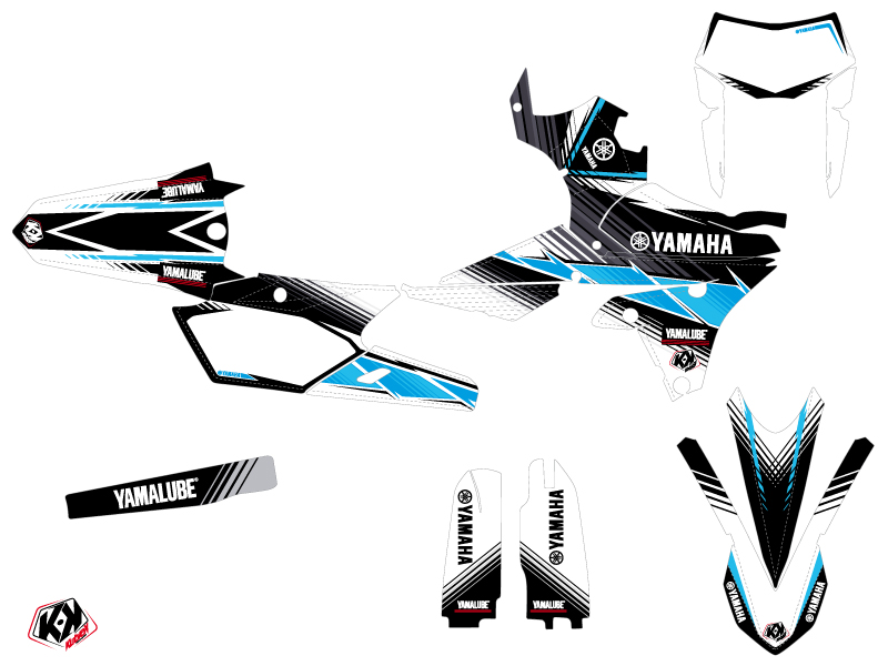 Yamaha 250 WRF Dirt Bike Stripe Graphic Kit Black