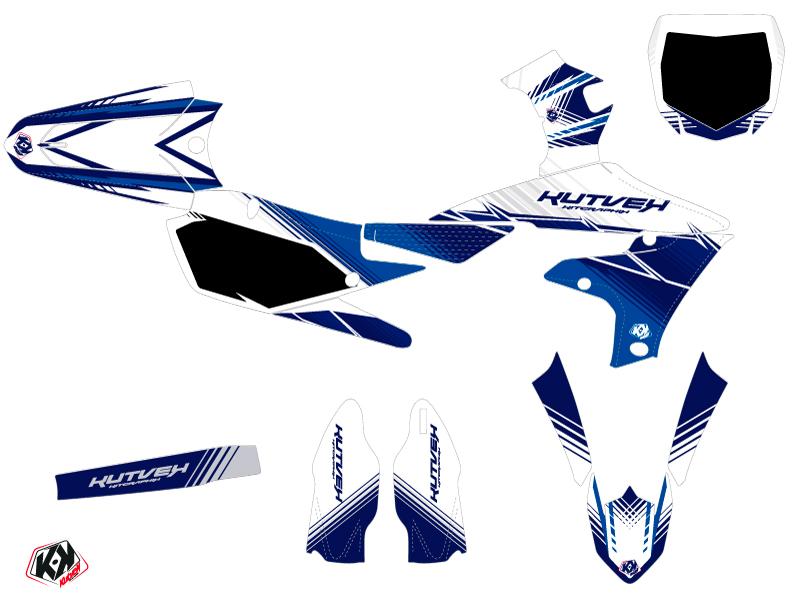 Yamaha 250 YZF Dirt Bike Stripe Graphic Kit Night Blue