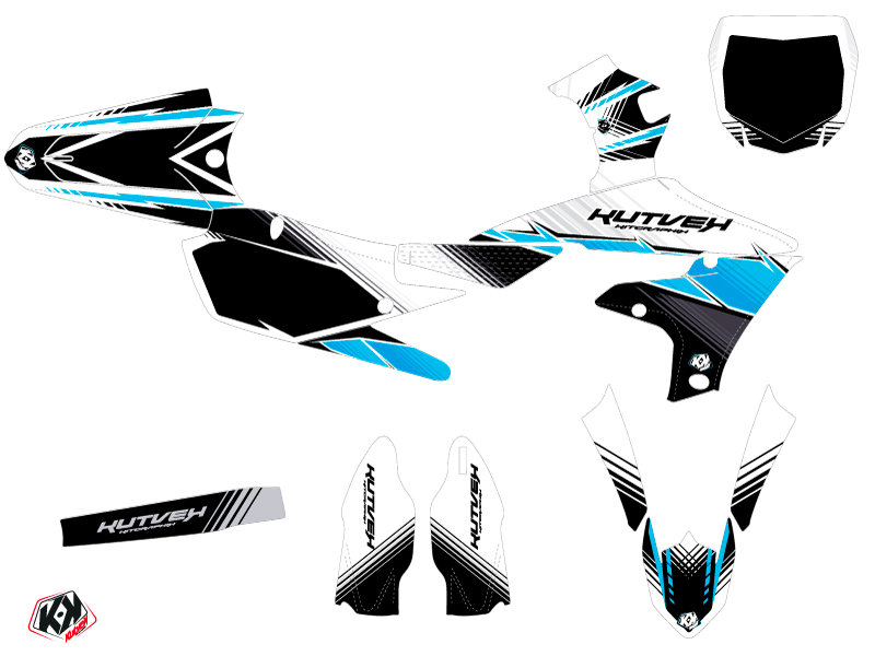 Yamaha 250 YZF Dirt Bike Stripe Graphic Kit Black