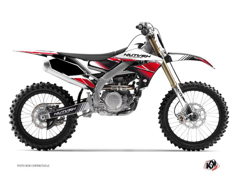 Kit Déco Moto Cross Stripe Yamaha 250 YZF Rouge
