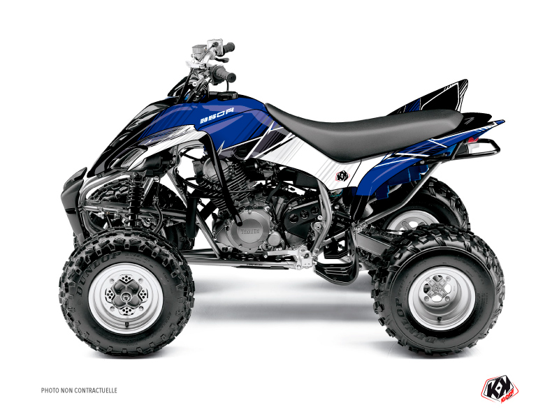 Yamaha 350 Raptor ATV Stripe Graphic Kit Blue