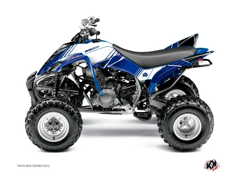 Yamaha 350 Raptor ATV Stripe Graphic Kit Night Blue