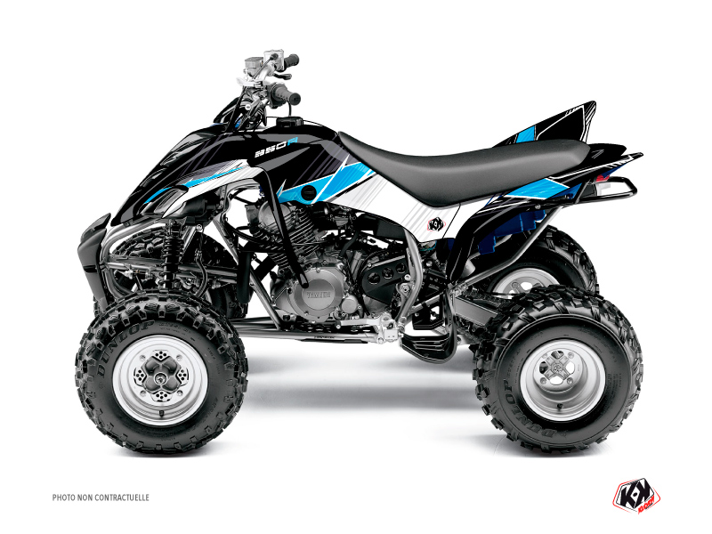 Yamaha 350 Raptor ATV Stripe Graphic Kit Black