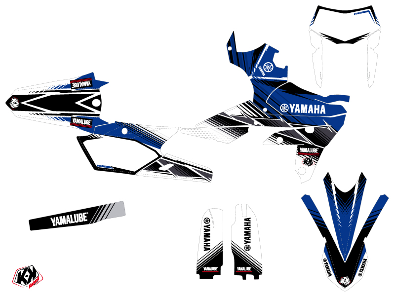 Kit Déco Moto Cross Stripe Yamaha 450 WRF Bleu