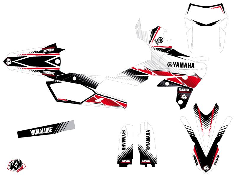 Yamaha 450 WRF Dirt Bike Stripe Graphic Kit Red