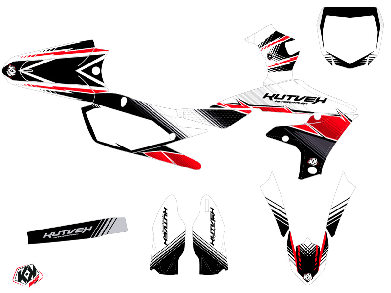 Yamaha 450 YZF Dirt Bike Stripe Graphic Kit Red