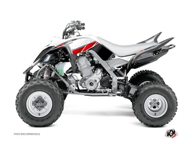 Yamaha 660 Raptor ATV Stripe Graphic Kit Red