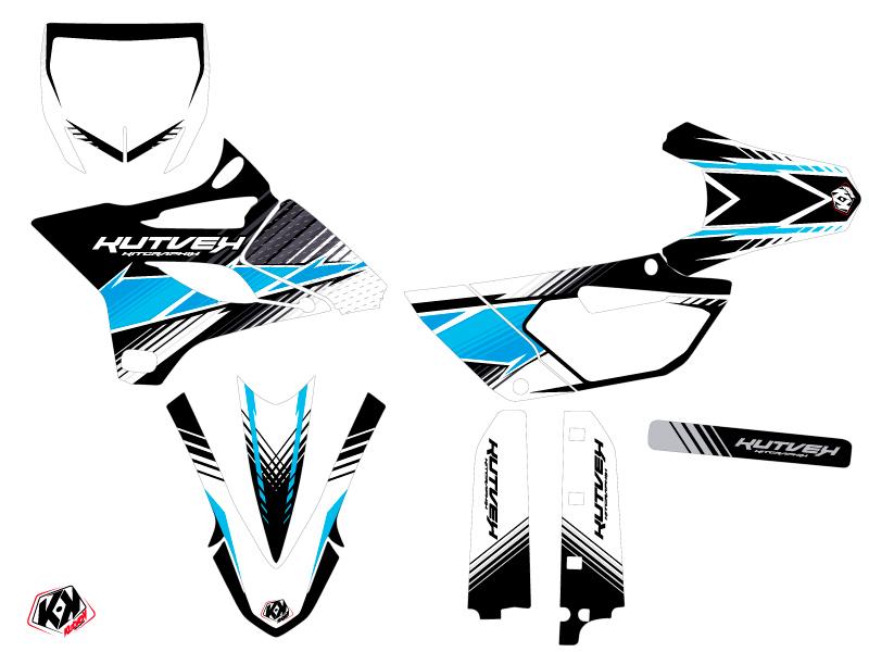 Kit Déco Moto Cross Stripe Yamaha 85 YZ Noir