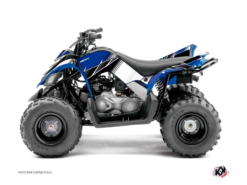 Yamaha 90 Raptor ATV Stripe Graphic Kit Blue