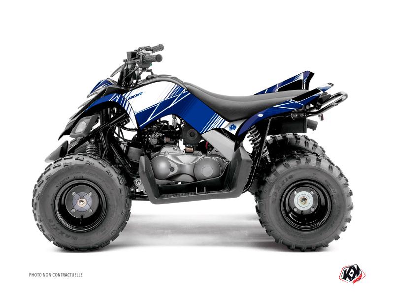 Yamaha 90 Raptor ATV Stripe Graphic Kit Night Blue