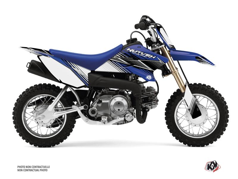 Kit Déco Moto Cross Stripe Yamaha TTR 50 Bleu