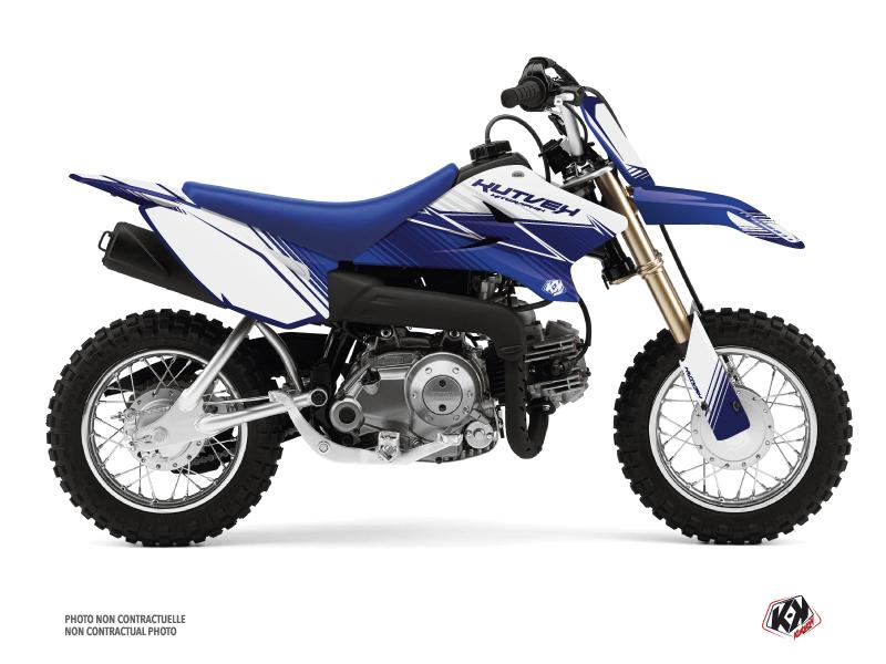 Kit Déco Moto Cross Stripe Yamaha TTR 50 Bleu Nuit