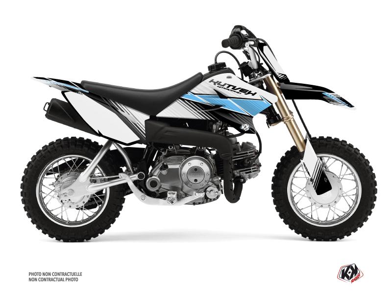 Kit Déco Moto Cross Stripe Yamaha TTR 50 Noir