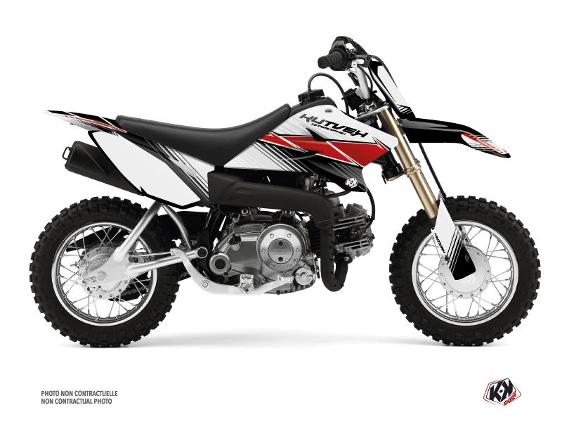 Kit Déco Moto Cross Stripe Yamaha TTR 50 Rouge