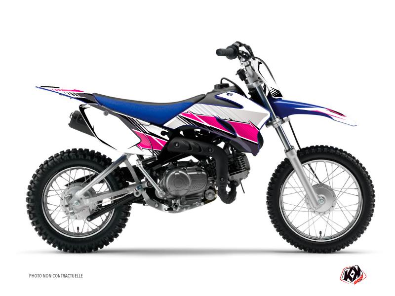 Kit Déco Moto Cross Stripe Yamaha TTR 90 Rose