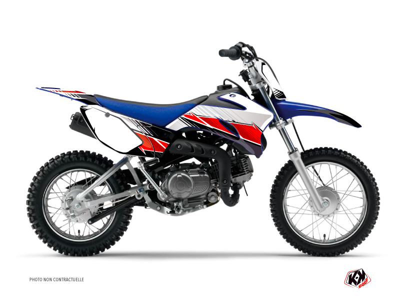 Kit Déco Moto Cross Stripe Yamaha TTR 90 Rouge