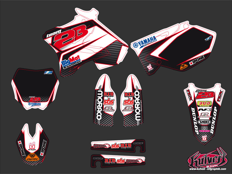 Yamaha 125 YZ Dirt Bike Replica Team 2b Graphic Kit 2010