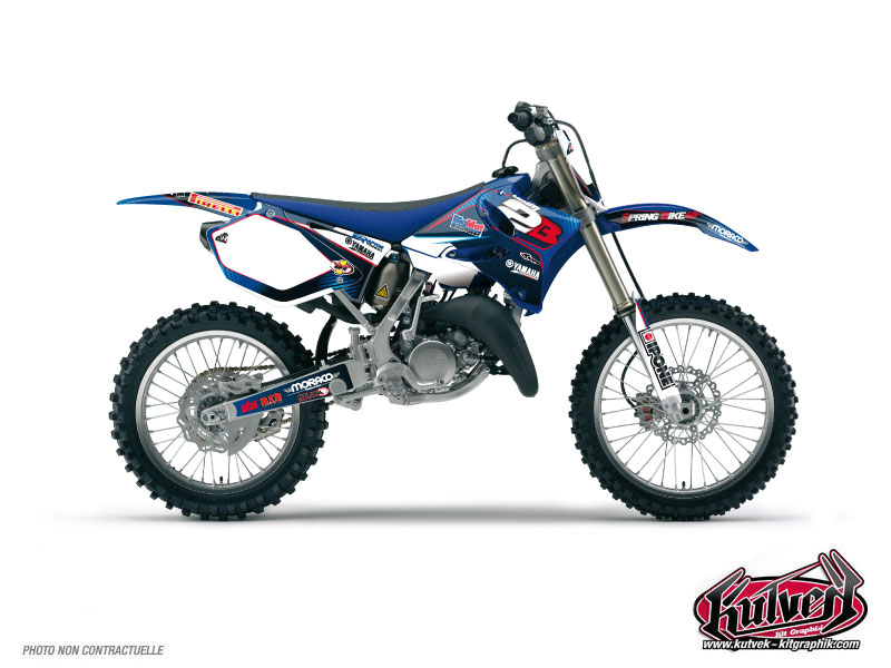 Yamaha 125 YZ Dirt Bike Replica Team 2b Graphic Kit 2011