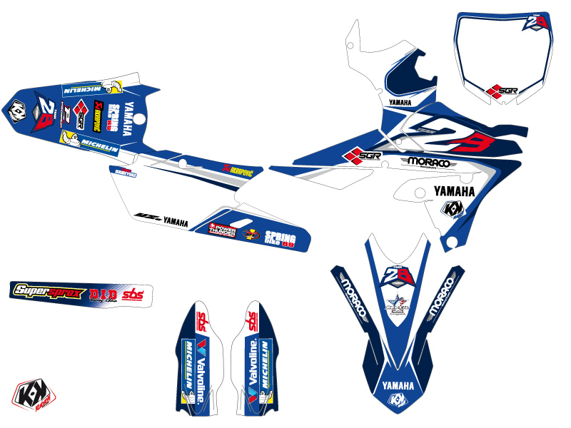 Yamaha 450 YZF Dirt Bike Replica Team 2b Graphic Kit 2015