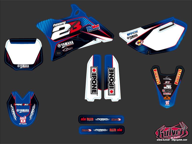 Yamaha 85 YZ Dirt Bike Replica Team 2b Graphic Kit 2011