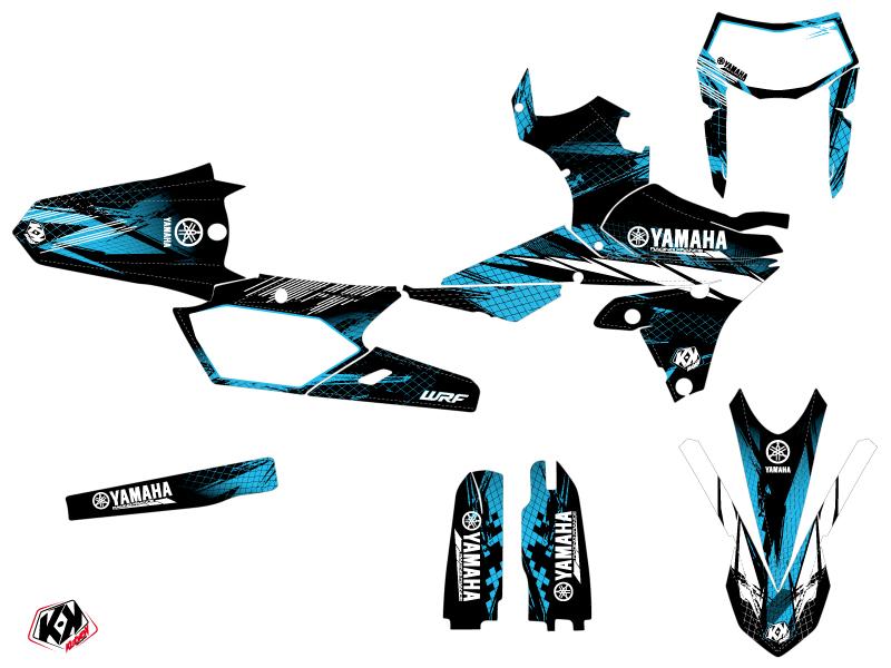 Yamaha 250 WRF Dirt Bike Techno Graphic Kit Blue