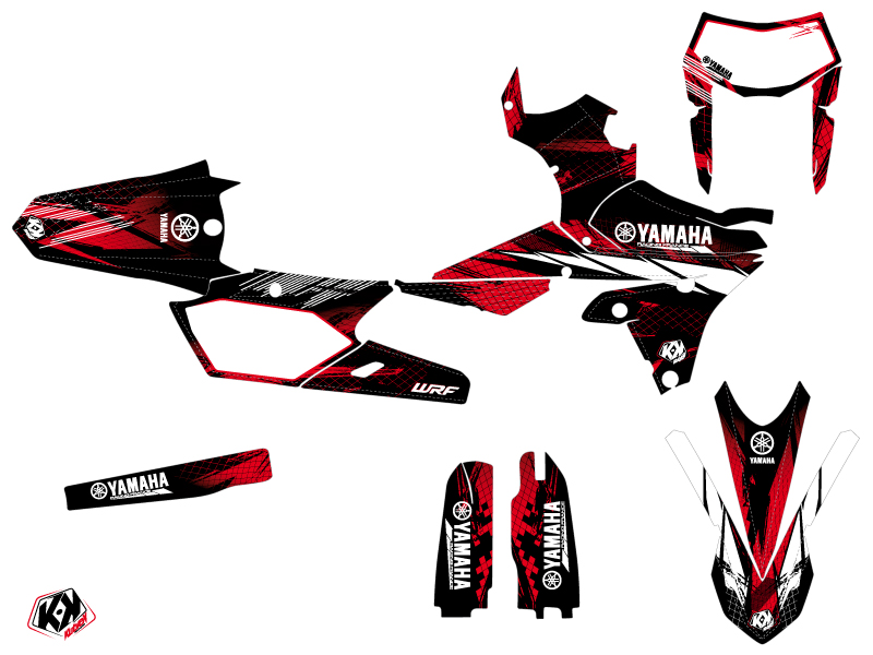 Kit Déco Moto Cross Techno Yamaha 250 WRF Rouge