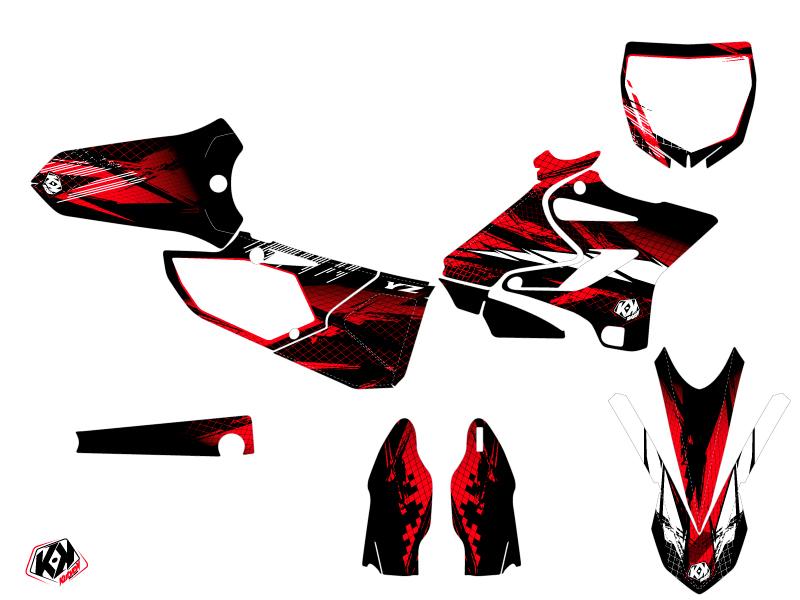 Kit Déco Moto Cross Techno Yamaha 250 YZ Rouge
