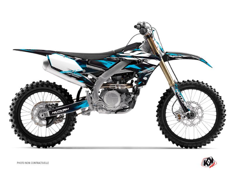 Yamaha 450 YZF Dirt Bike Techno Graphic Kit Blue