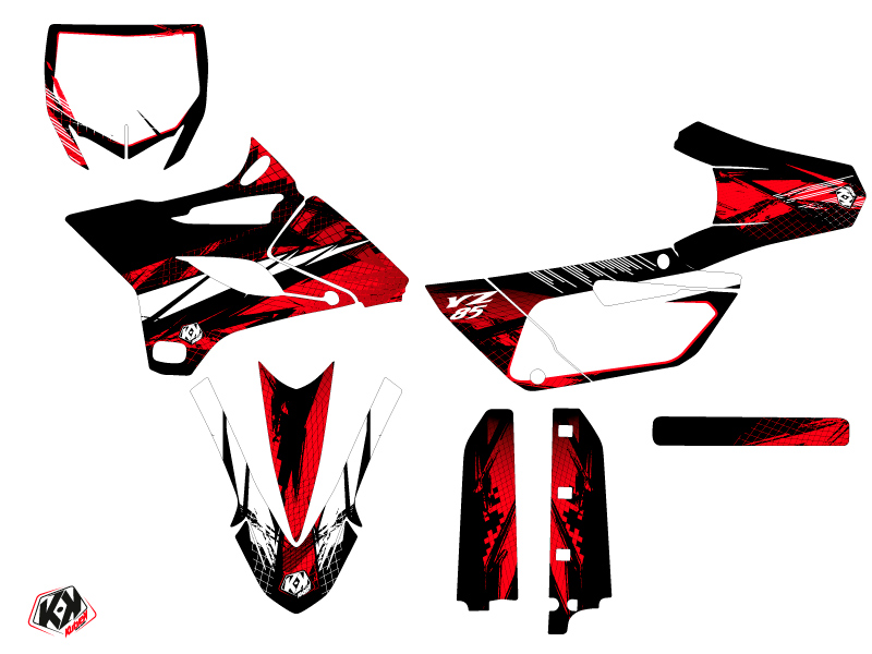 Kit Déco Moto Cross Techno Yamaha 85 YZ Rouge