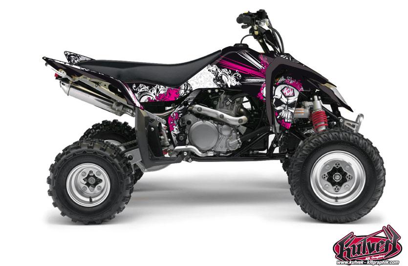 Suzuki 450 LTR ATV Trash Graphic Kit Black Pink