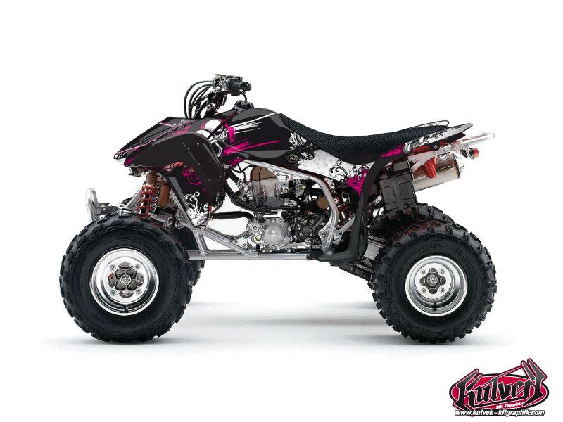 Honda 450 TRX ATV Trash Graphic Kit Black Pink