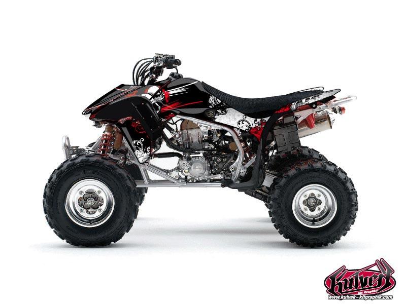 Honda 450 TRX ATV Trash Graphic Kit Black Red