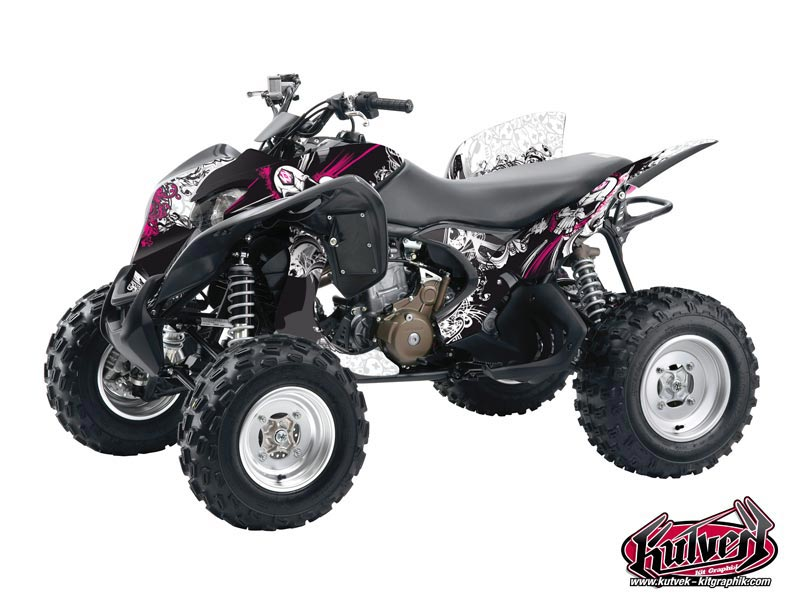 Honda 700 TRX ATV Trash Graphic Kit Black Pink
