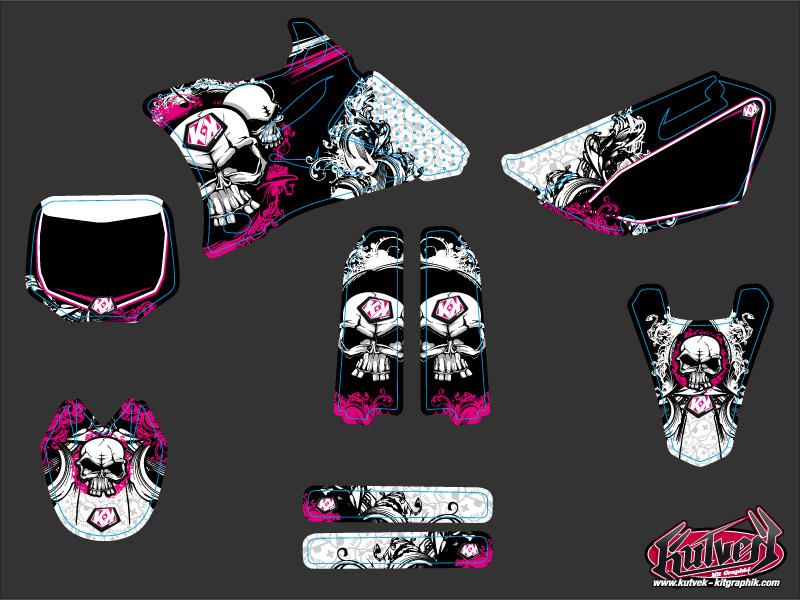 Yamaha 85 YZ Dirt Bike Trash Graphic Kit Pink