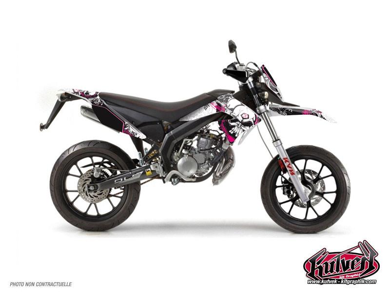 Derbi DRD Xtreme 50cc Trash Graphic Kit Pink