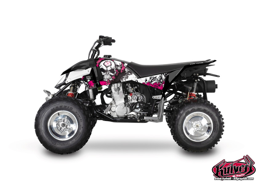 Polaris Outlaw 450 ATV Trash Graphic Kit Black Pink