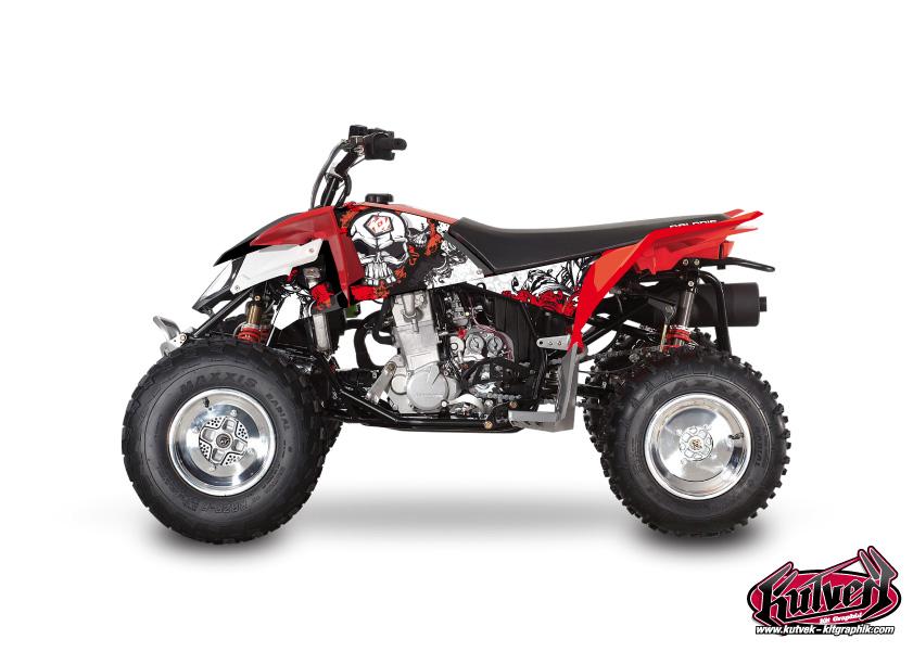 Polaris Outlaw 450 ATV Trash Graphic Kit Black Red