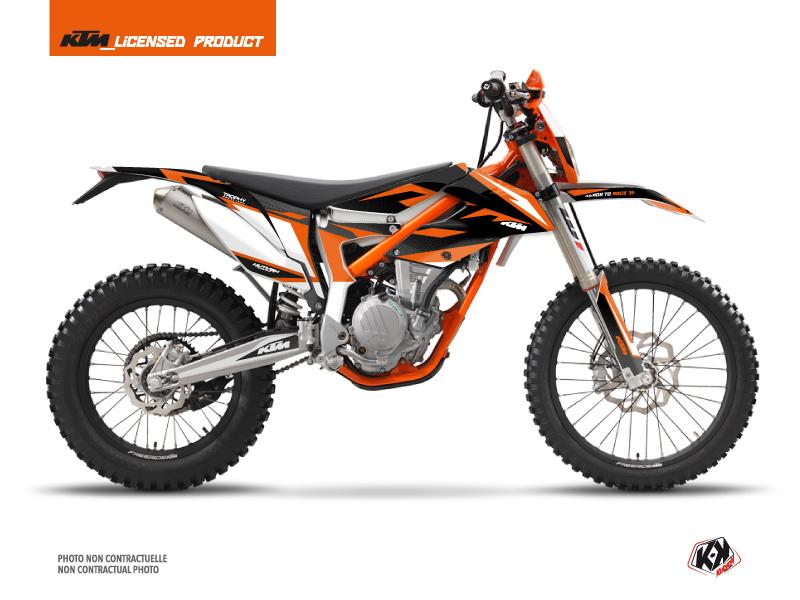 KTM 250 FREERIDE Dirt Bike Trophy Graphic Kit Black Orange