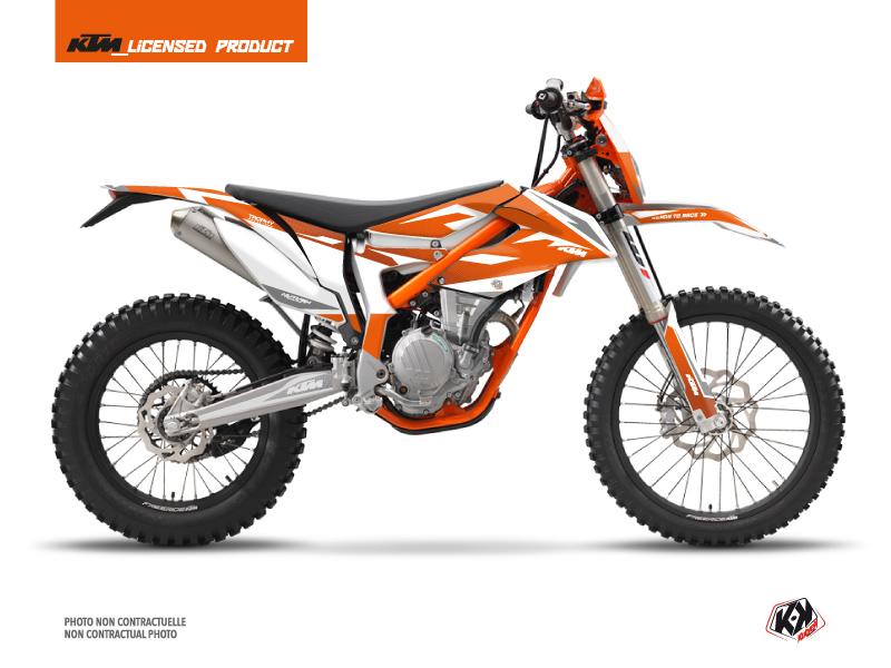 KTM 250 FREERIDE Dirt Bike Trophy Graphic Kit Orange White