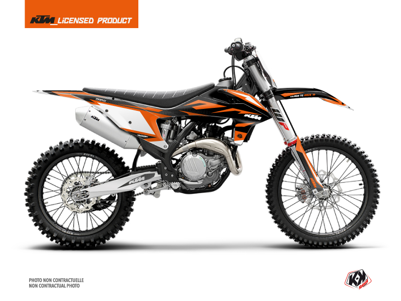 KTM 250 SX Dirt Bike Trophy Graphic Kit Black Orange