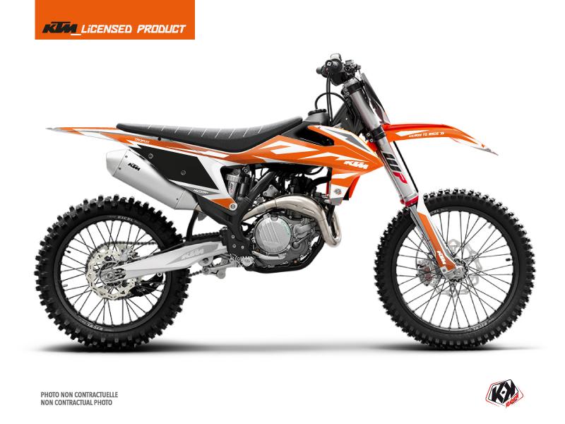 KTM 250 SXF Dirt Bike Trophy Graphic Kit Orange White
