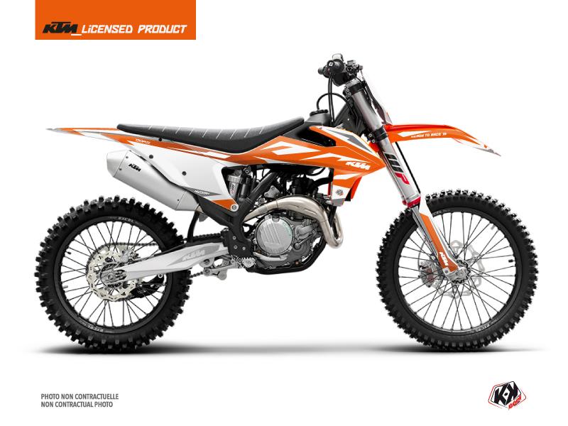 KTM 350 SXF Dirt Bike Trophy Graphic Kit Orange White