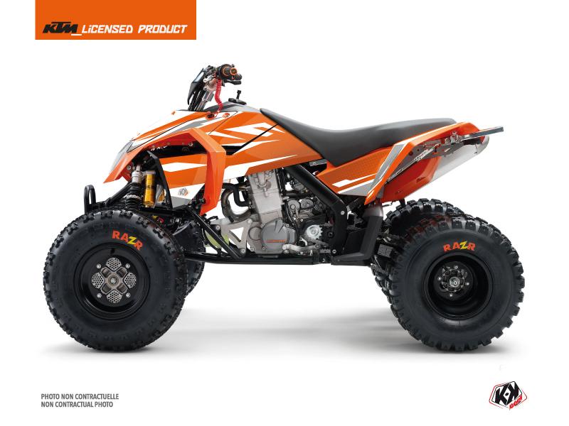 Kit Déco Quad Trophy KTM 450-525 SX Orange Blanc
