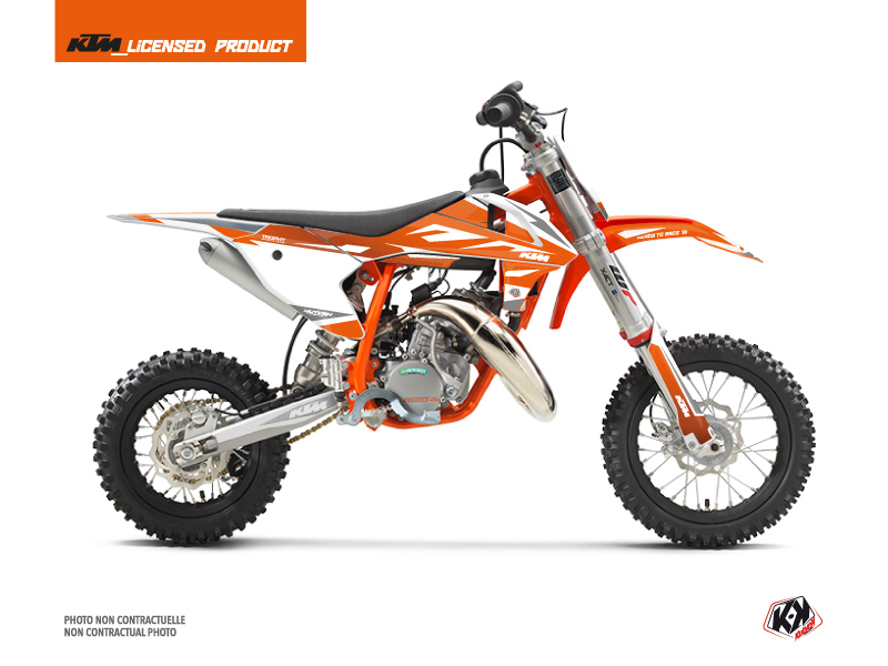KTM 50 SX Dirt Bike Trophy Graphic Kit Orange White
