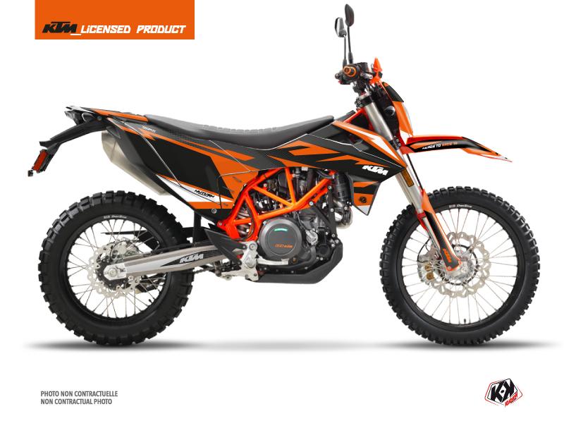 KTM 690 ENDURO R Dirt Bike Trophy Graphic Kit Black Orange