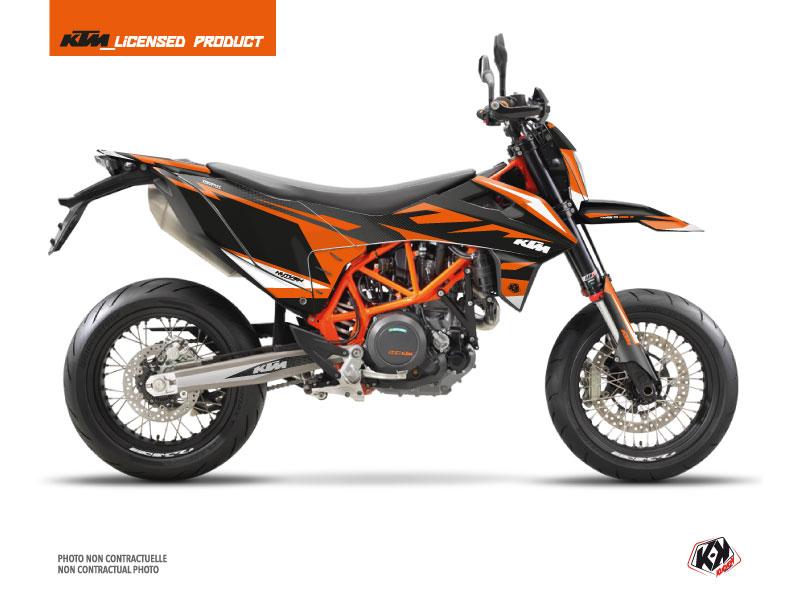 KTM 690 SMC R Dirt Bike Trophy Graphic Kit Black Orange