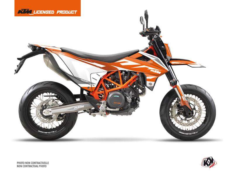 KTM 690 SMC R Dirt Bike Trophy Graphic Kit Orange White