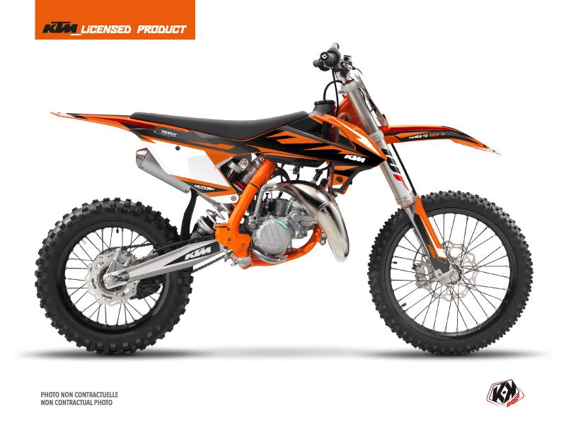 KTM 85 SX Dirt Bike Trophy Graphic Kit Black Orange