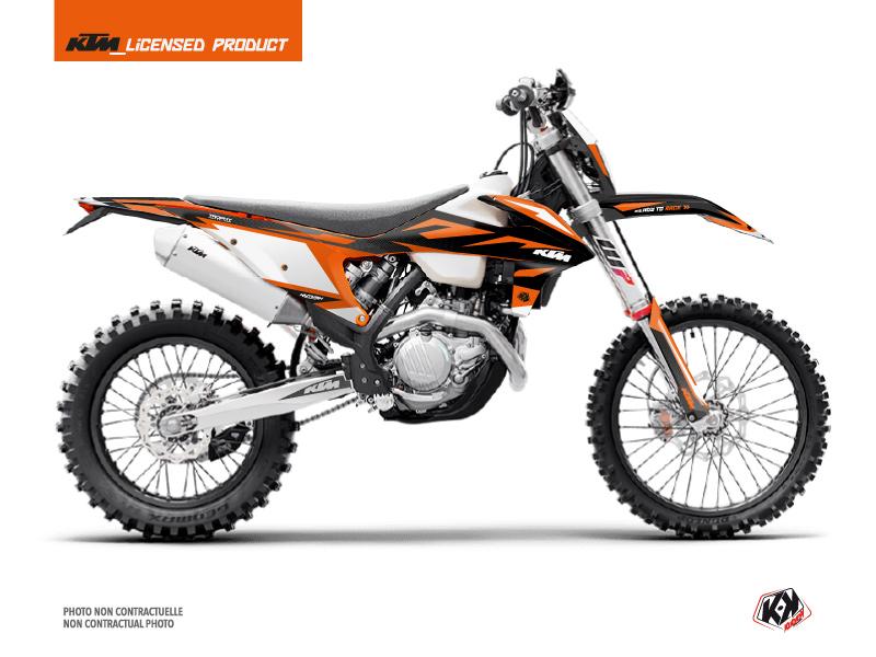 KTM EXC-EXCF Dirt Bike Trophy Graphic Kit Black Orange